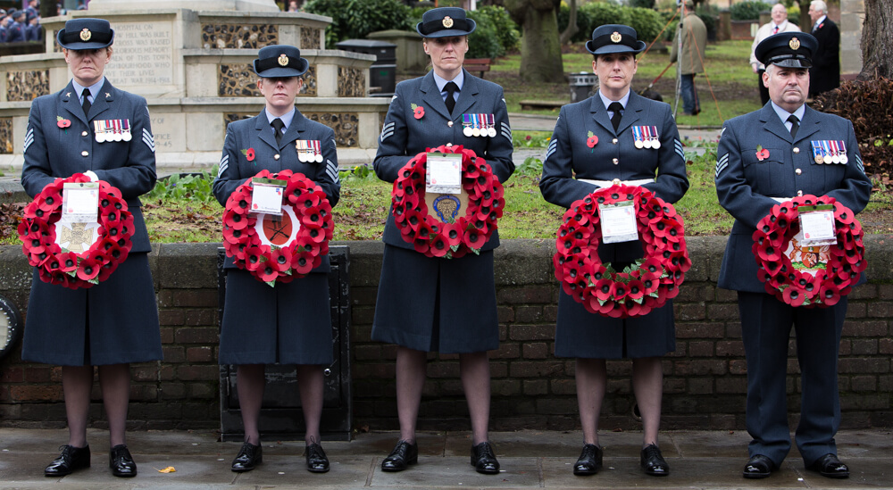 RAF Personnel at the High Wycombe Remembrance Parade