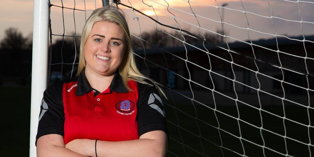 A portrait of Thame. Kayleigh - The manager of Thame Ladies FC